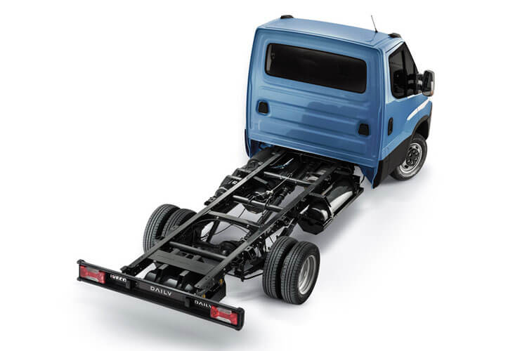 Iveco Daily 35C 3750 DRW 2.3 D HPI 14V DRW 136PS  Chassis Cab HiMatic [Start Stop] back view